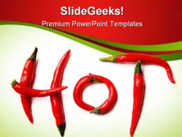 Red Hot Chilli Peppers Food PowerPoint Templates And PowerPoint Backgrounds 0311