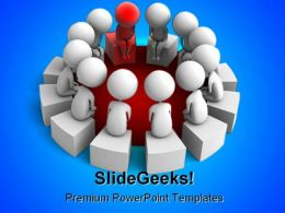 Red Leader Leadership PowerPoint Backgrounds And Templates 0111