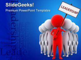 Red Leader Leadership PowerPoint Backgrounds And Templates 1210