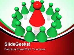 Red Leader Of Management Leadership PowerPoint Templates And PowerPoint Backgrounds 0811
