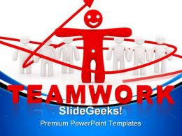 Red Leader Teamwork Leadership PowerPoint Templates And PowerPoint Backgrounds 0811