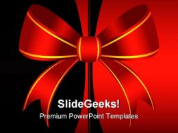 Red Ornamental Bow Background PowerPoint Templates And PowerPoint Backgrounds 0711
