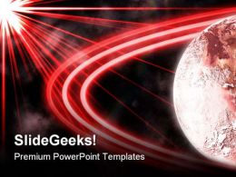 Red Planet With Rings Background PowerPoint Templates And PowerPoint Backgrounds 0811