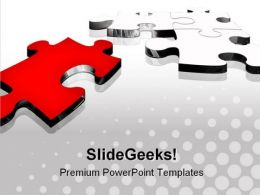 Red Puzzle Piece Business PowerPoint Templates And PowerPoint Backgrounds 0811