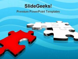 Red Puzzle Solution Business PowerPoint Templates And PowerPoint Backgrounds 0711