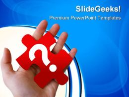 Red Question Puzzle Piece Communication PowerPoint Templates And PowerPoint Backgrounds 0711
