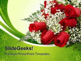 Red Roses Beauty PowerPoint Templates And PowerPoint Backgrounds 0611