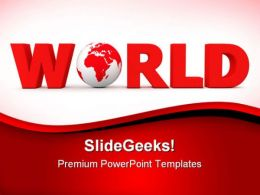 Red World Global PowerPoint Templates And PowerPoint Backgrounds 0711