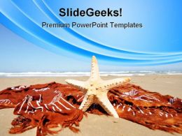 Relaxing Tropical Beach PowerPoint Templates And PowerPoint Backgrounds 0411