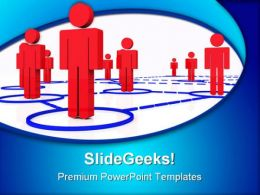 Render Human Connection Networking PowerPoint Templates And PowerPoint Backgrounds 0511