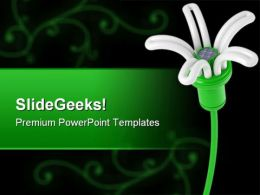 Renewable Energy Flower Lamp Environment PowerPoint Templates And PowerPoint Backgrounds 0411