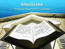 Replica Giant Bible Religion PowerPoint Templates And PowerPoint Backgrounds 0211