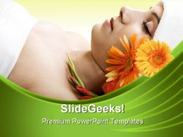 Resting In Spa Beauty PowerPoint Templates And PowerPoint Backgrounds 0311  Presentation Themes and Graphics Slide01