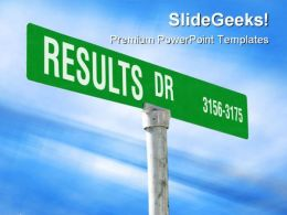 Results Themed Street Symbol PowerPoint Templates And PowerPoint Backgrounds 0911