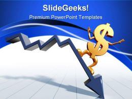 Riding The Downturn Business PowerPoint Templates And PowerPoint Backgrounds 0811