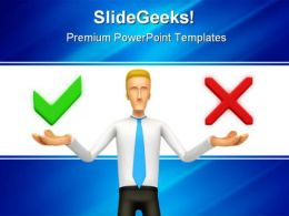 Right Wrong Finance PowerPoint Template 0810