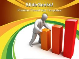Rising Graph Business PowerPoint Templates And PowerPoint Backgrounds 0911