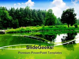 River Landscape Nature PowerPoint Templates And PowerPoint Backgrounds 0711