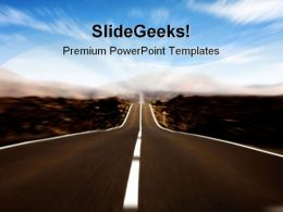 Road In Motion Future PowerPoint Templates And PowerPoint Backgrounds 0911