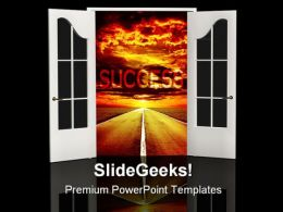 Road Of Success Business PowerPoint Templates And PowerPoint Backgrounds 0511