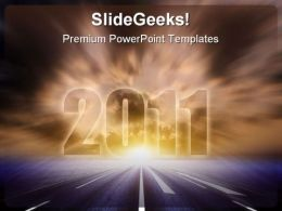 Road To 2011 Business PowerPoint Backgrounds And Templates 0111