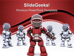 Robot Leading Team Leadership PowerPoint Templates And PowerPoint Backgrounds 0711