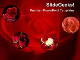 Rose Collage Beauty PowerPoint Template 1110