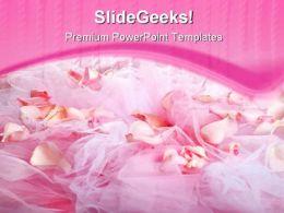 Rose Petals Beauty PowerPoint Template 0910