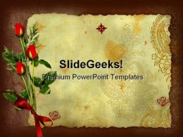 Roses Background Beauty PowerPoint Template 0610