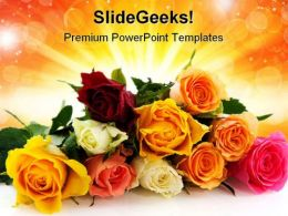 Roses Beauty PowerPoint Templates And PowerPoint Backgrounds 0411