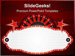 Roulette Neon Sports PowerPoint Templates And PowerPoint Backgrounds 0711