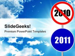 Round Sign New Year Future PowerPoint Templates And PowerPoint Backgrounds 0611
