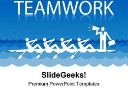 Rowing Team People Teamwork PowerPoint Template 1110