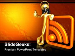 Rss Protection Symbol PowerPoint Templates And PowerPoint Backgrounds 0811