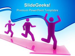 Running People Success PowerPoint Templates And PowerPoint Backgrounds 0811