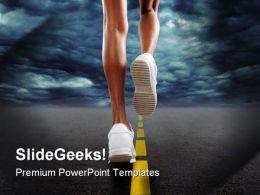 Running Sports PowerPoint Template 0610