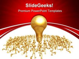 Running Towards Idea Business PowerPoint Templates And PowerPoint Backgrounds 0611