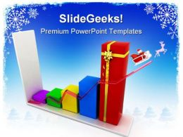 Sales Graph Christmas PowerPoint Templates And PowerPoint Backgrounds 0611
