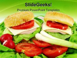 Sandwich And Salad Health PowerPoint Templates And PowerPoint Backgrounds 0211