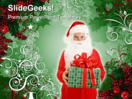 Santa Festival PowerPoint Template 1110