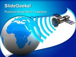Satellite Broadcasting Communication PowerPoint Templates And PowerPoint Backgrounds 0311