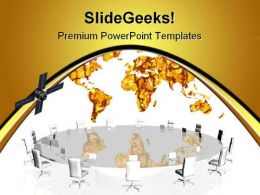 Satellite Conference Business PowerPoint Templates And PowerPoint Backgrounds 0811