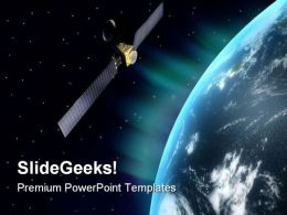 Satellite Globe PowerPoint Templates And PowerPoint Backgrounds 0611