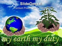 Save Earth Nature PowerPoint Template 0810