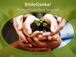 Save Plant Nature PowerPoint Template 1010