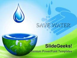 Save Water Environment PowerPoint Backgrounds And Templates 1210