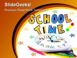 School01 Time Education PowerPoint Template 1110