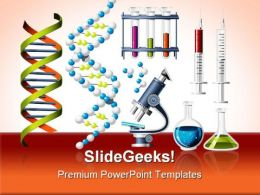 Science And Genetics Icons Medical PowerPoint Templates And PowerPoint Backgrounds 0811