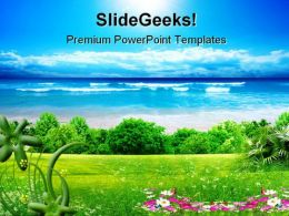 Sea Nature Background PowerPoint Templates And PowerPoint Backgrounds 0711