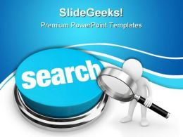Search Button Internet PowerPoint Templates And PowerPoint Backgrounds 0611